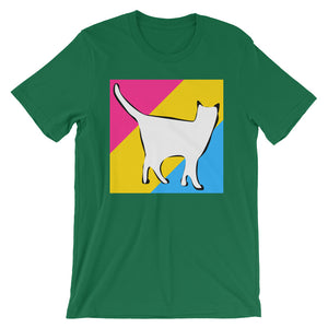 Cat Logo with Pansexual Stripes T-Shirt