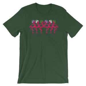 Fabulous Flamingos in Genderqueer Color Holidays Hats T-Shirt