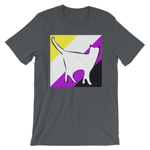Cat Logo with Non-binary Stripes T-Shirt
