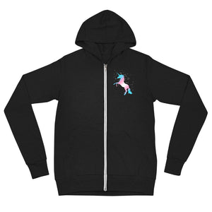 Trans Unicorn Zip Up Hoodie