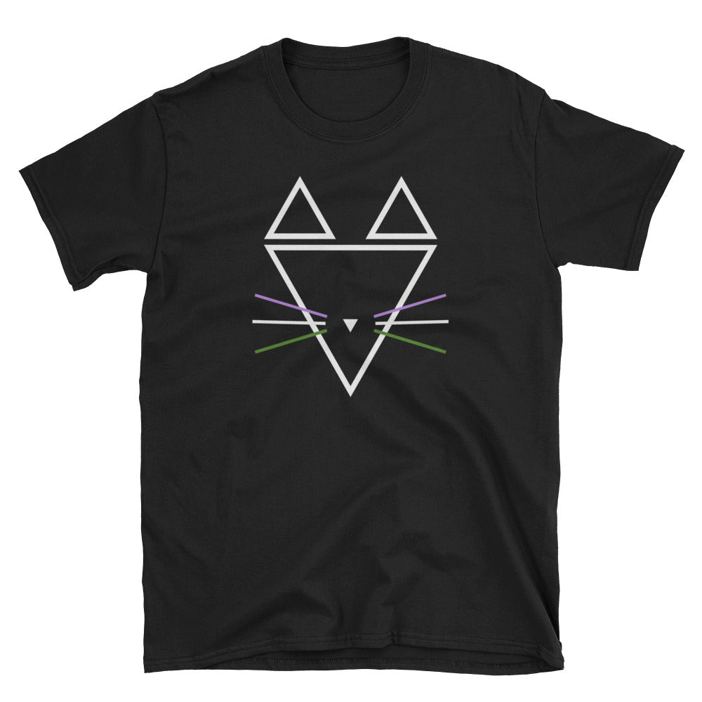 Genderqueer Whiskers Short-Sleeve Unisex T-Shirt