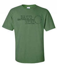 "Adult Neal James ""Banjo Neal"" Green Short Sleeve T-Shirt"