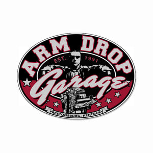 "Arm Drop Garage 6"" Decal"