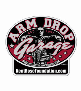 "Kent Rose Foundation Arm Drop Garage 3 3/8""h x 4""w Laminated Decal"