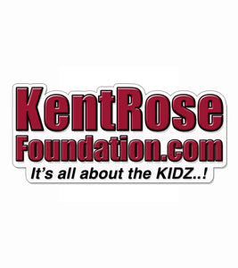 "Kent Rose Foundation 1 7/8""h x 4""w Laminated Decal"