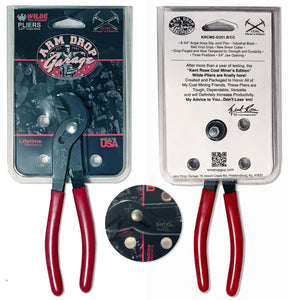 "Arm Drop Garage ""Kent Rose"" Signature Coal Miners Wilde Pliers"
