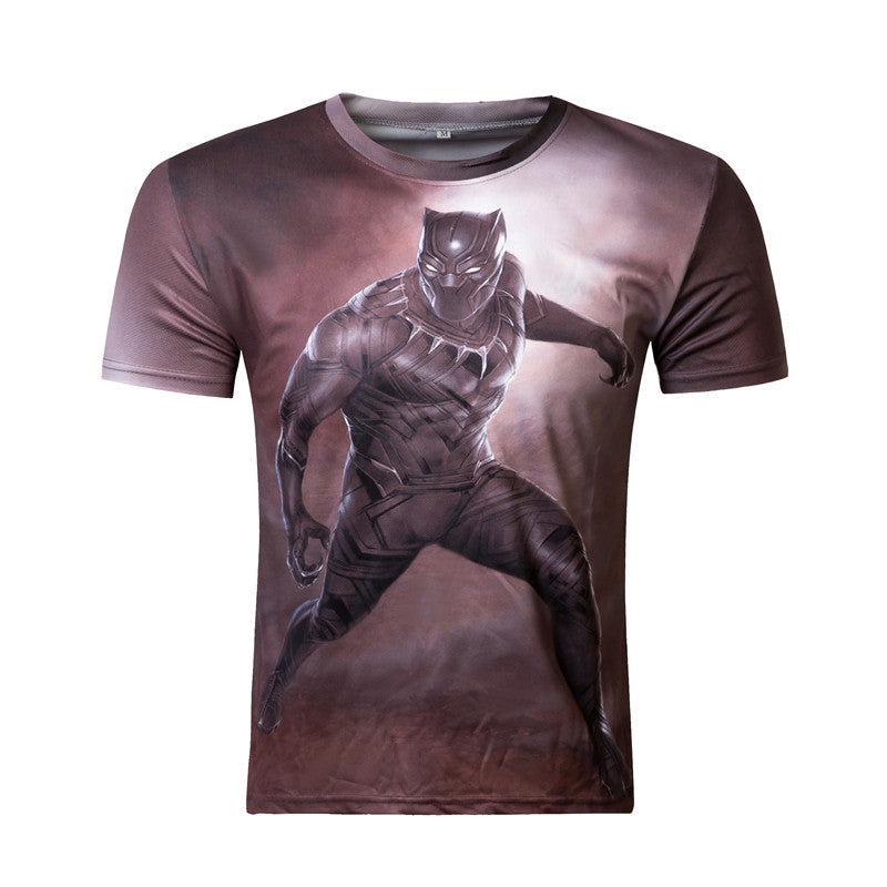 ZOOTOP BEAR Black Panther 3D T Shirt Men's fashion short sleeve cool printed t-shirt Harajuku funny tops tee shirts