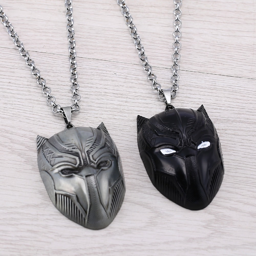 Movie Souvenir Civil War Superhero Pendant Necklace Spider Man Ant Man Black Panther Necklaces Fashion Men Women Gifts