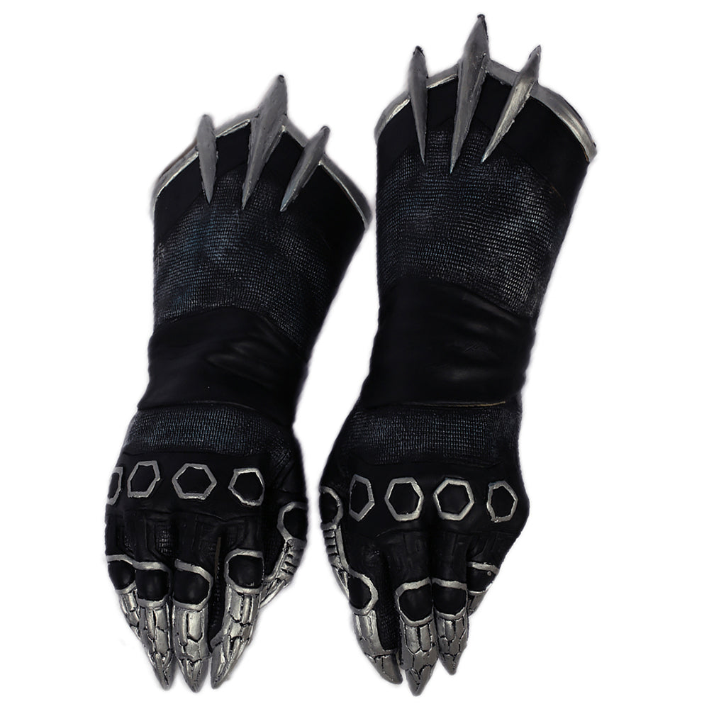 Black Panther Claw Gloves Costume Accessory
