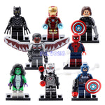 Marvel Super Heroes Falcon Spider-Man Iron Man She-Hulk Black Panther Captain America 3 Civil War Building Blocks Toys