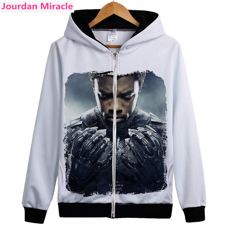 Black Panther hoodie Captain America Civil War 3D printing fashion hoodie Avengers men and women spring autumn sweatshirt