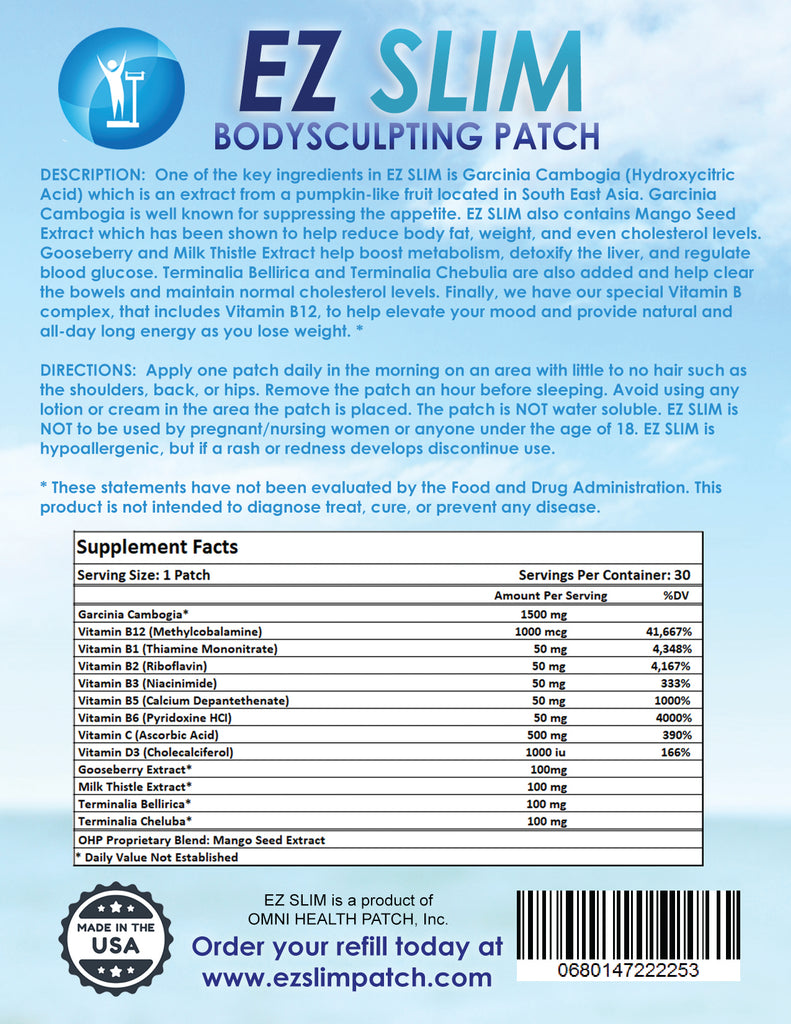 [Effective Best Weight Loss Patch Online] - EZ Slim Patch