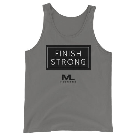 JKL MLF Finish Strong Unisex Tank Top(Blk Logo)