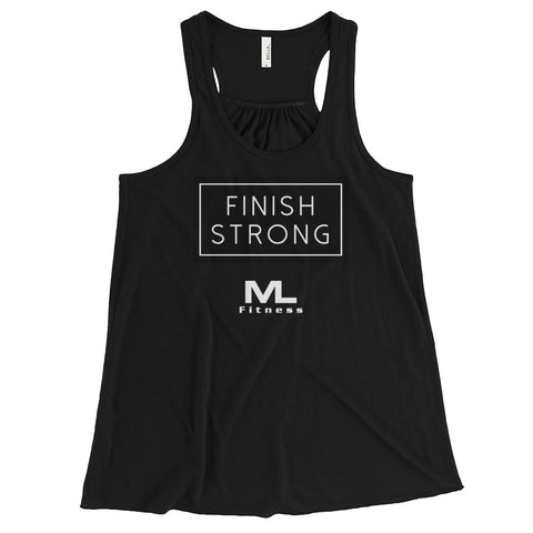 JKL MLF Finish Strong Women's Racerback Tank(Wht Logo)