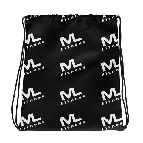 MLF Pattern Drawstring bag