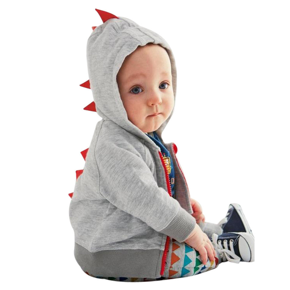Baby Dinosaur Hooded Top - LDNKIDS - Kids Clothing Childrenswear Baby Clothes