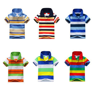 Striped Colourful Polo Shirt - LDNKIDS - Kids Clothing Childrenswear Baby Clothes