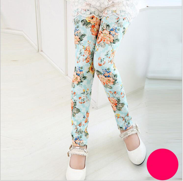 Floral Apricot Leggings - LDNKIDS - Kids Clothing Childrenswear Baby Clothes