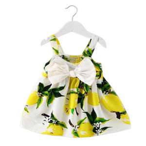 Baby Girls Lemon Bow Dress - LDNKIDS - Kids Clothing Childrenswear Baby Clothes