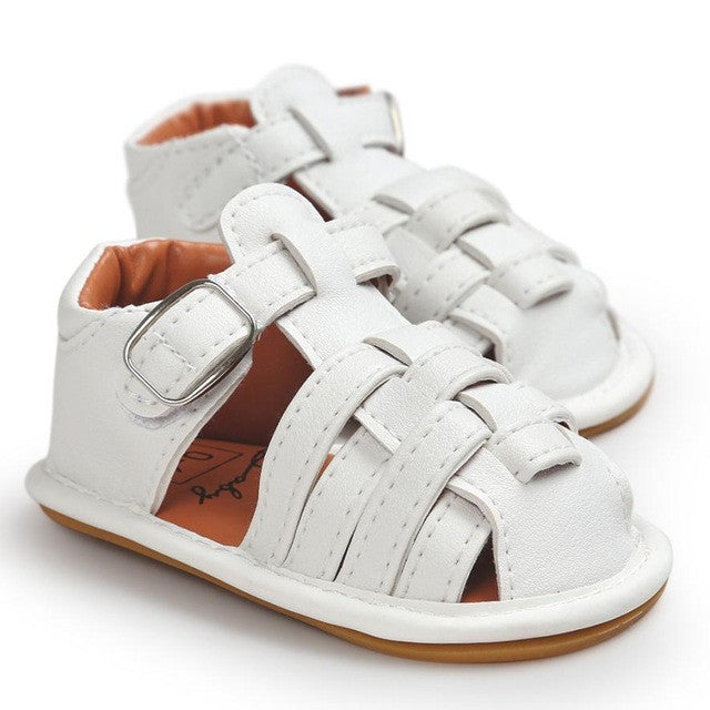White Gladiator Sandals - LDNKIDS - Kids Clothing Childrenswear Baby Clothes