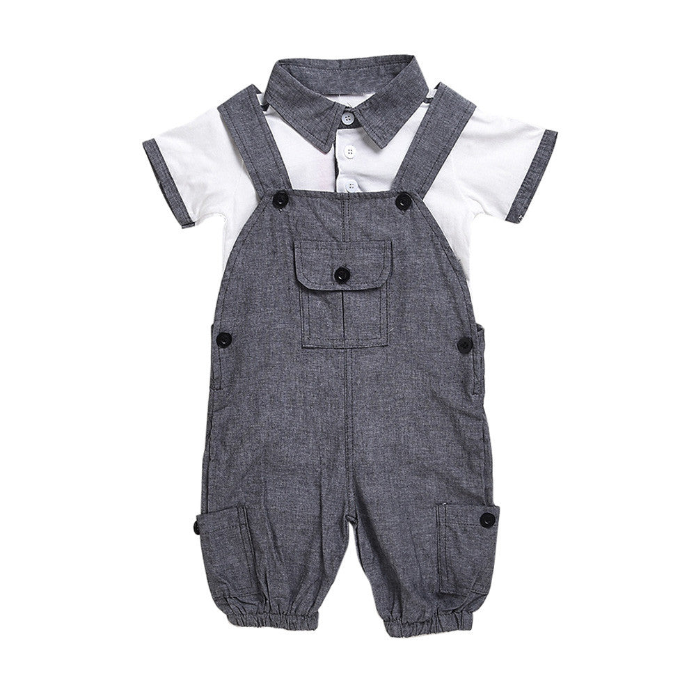 2 Piece Dungarees And Polo Set - LDNKIDS - Kids Clothing Childrenswear Baby Clothes