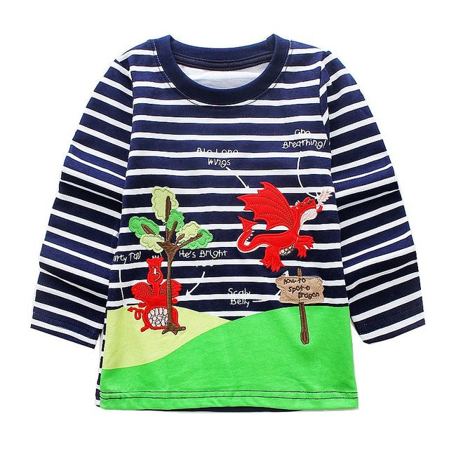Striped Dragon Top - LDNKIDS - Kids Clothing Childrenswear Baby Clothes