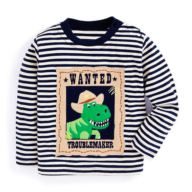 Wanted T-Rex Top - LDNKIDS - Kids Clothing Childrenswear Baby Clothes