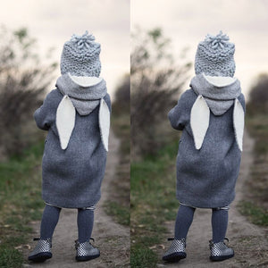Grey Rabbit Ear Coat - LDNKIDS - Kids Clothing Childrenswear Baby Clothes
