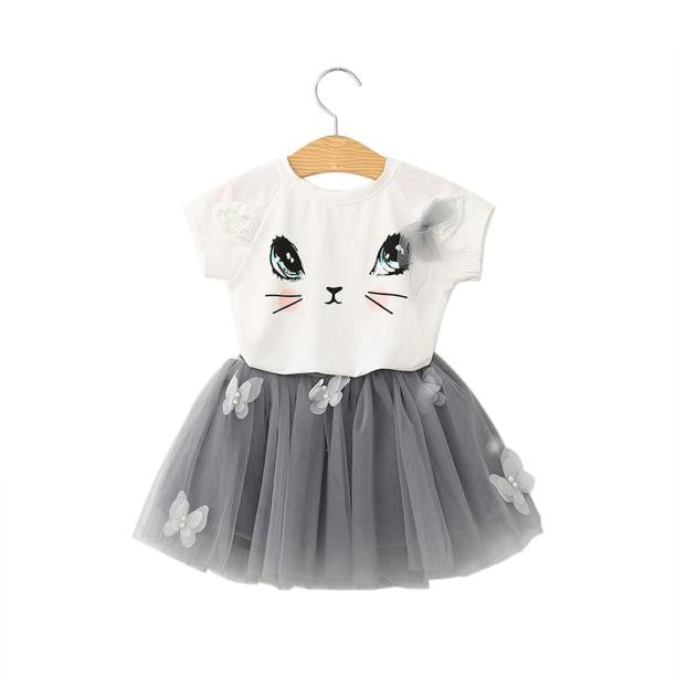 Cat 2 piece skirt set - LDNKIDS - Kids Clothing Childrenswear Baby Clothes