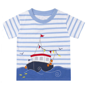 Fishing Boat Tee - LDNKIDS - Kids Clothing Childrenswear Baby Clothes