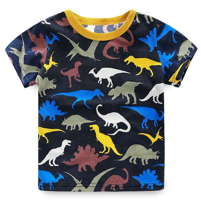 Dinosaur Shapes Tee - LDNKIDS - Kids Clothing Childrenswear Baby Clothes