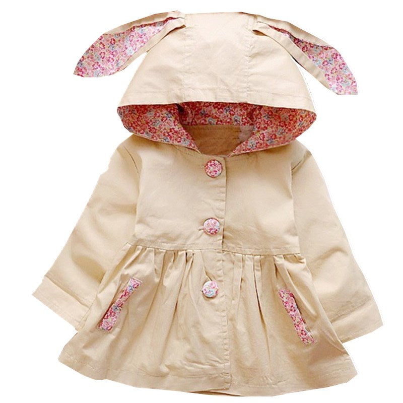 Khaki Spring Bunny Coat - LDNKIDS - Kids Clothing Childrenswear Baby Clothes
