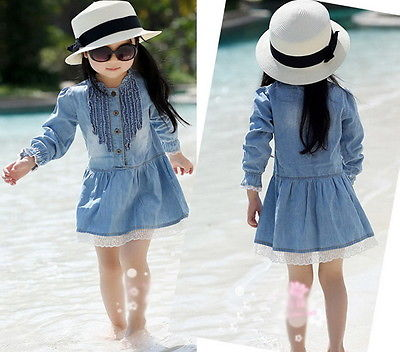 Blue Denim Dress - LDNKIDS - Kids Clothing Childrenswear Baby Clothes