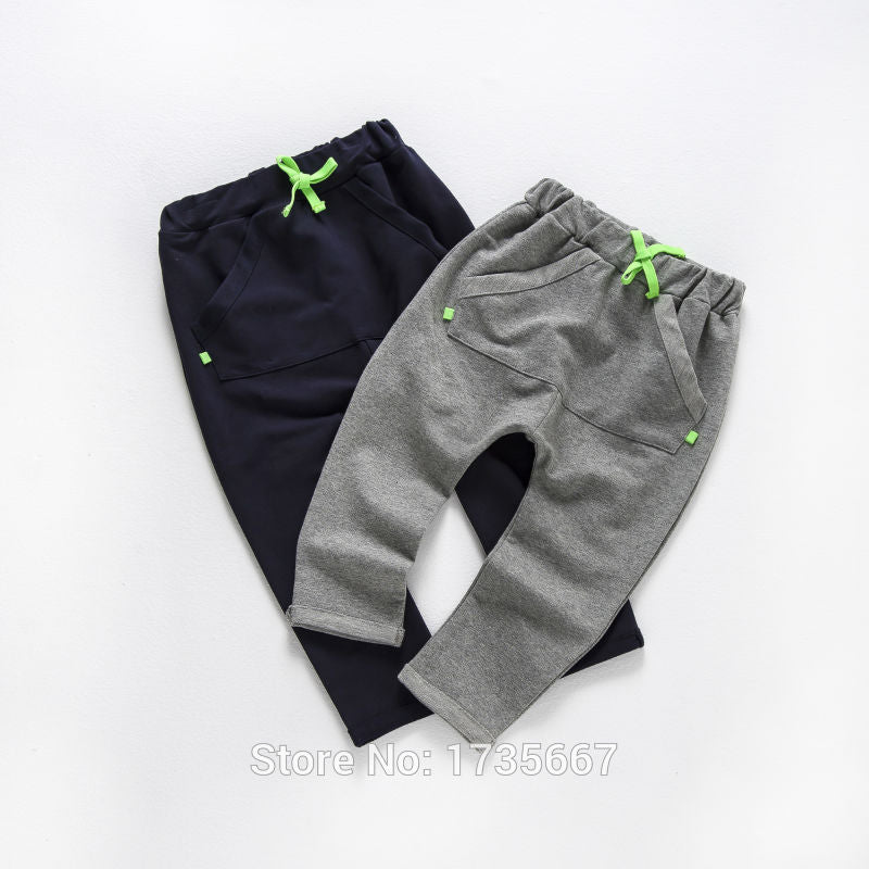 Grey/ Navy Blue Harem Jogging Bottoms - LDNKIDS - Kids Clothing Childrenswear Baby Clothes