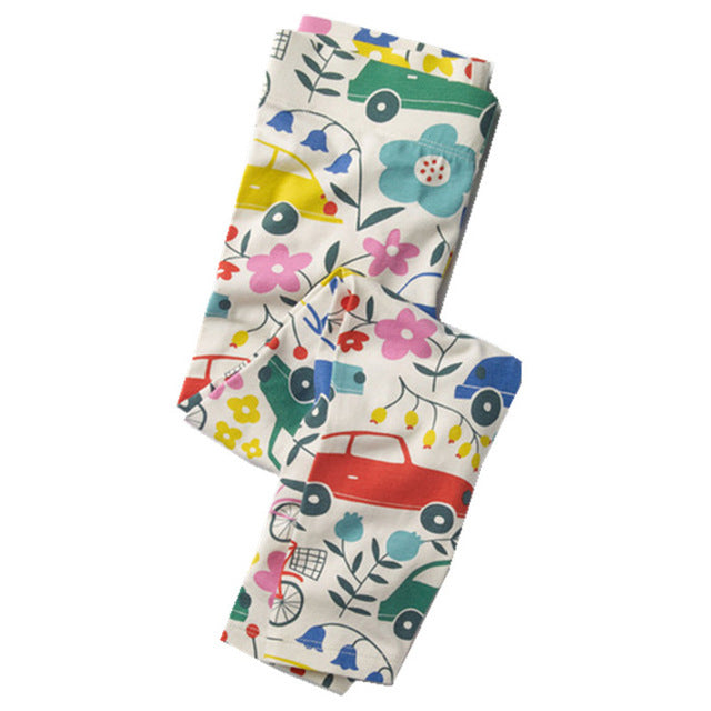 Flower Vehicle Leggings - LDNKIDS - Kids Clothing Childrenswear Baby Clothes