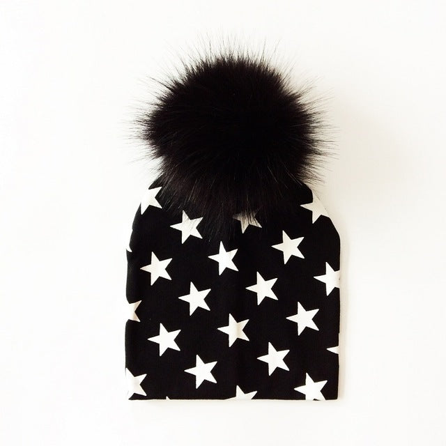 White Star Pom Pom Hat - LDNKIDS - Kids Clothing Childrenswear Baby Clothes