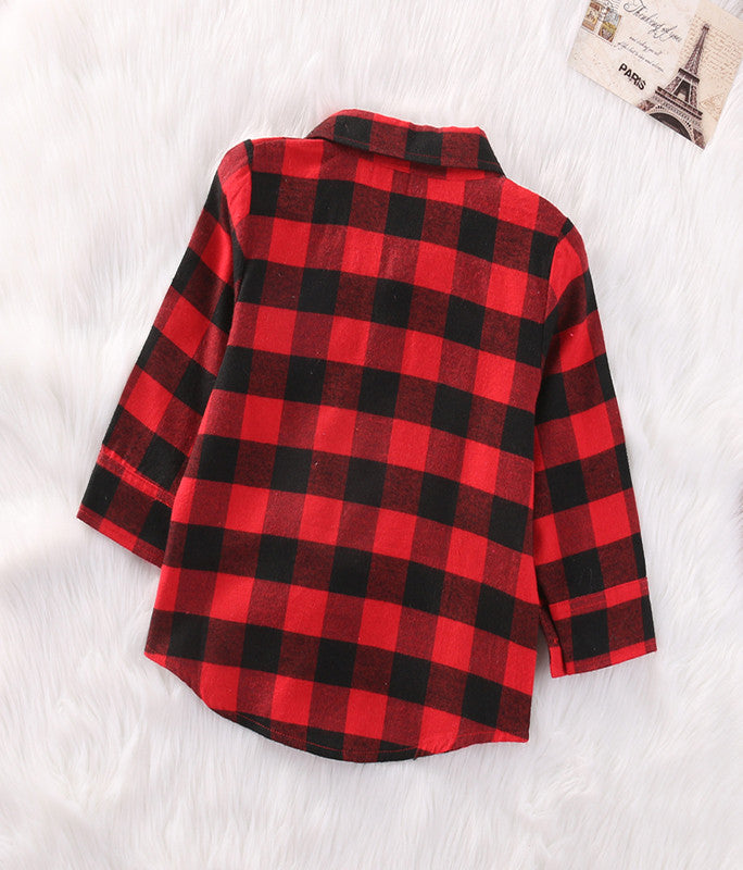 Red & Black Plaid Shirt - LDNKIDS - Kids Clothing Childrenswear Baby Clothes