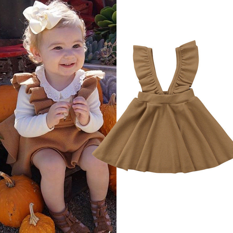 Camel Pinafore Dress - LDNKIDS - Kids Clothing Childrenswear Baby Clothes