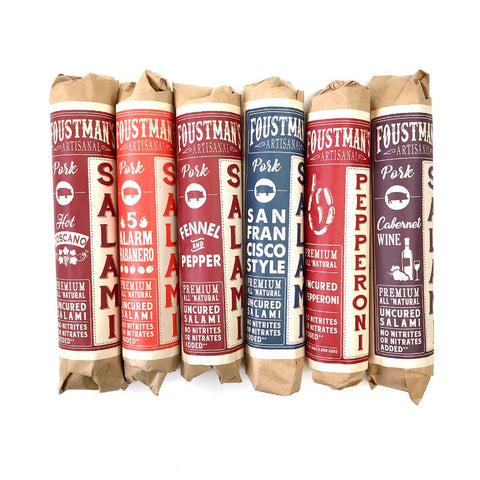 UNCURED SALAMI (MIX & MATCH VARIETY 6-PACK) ARTISANAL & NITRATE-FREE