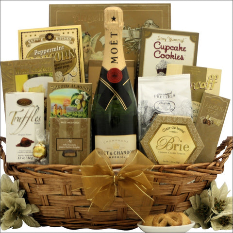 FESTIVE NEW YEAR'S WISHES: CHAMPAGNE GIFT BASKET