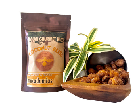 Coconut Bliss Macadamias Kauai Honey Kauai Coconut Cinnamon Roasted Nuts