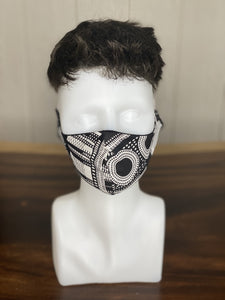 "BAMBOO-LINED DUTCH FABRIC FACE MASKS - ""GEOMETRY I"""
