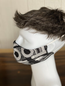 "MASK - BAMBOO-LINED DUTCH FABRIC FACE MASKS - ""GEOMETRY I"""