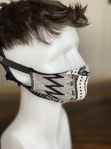 "MASK - BAMBOO-LINED DUTCH FABRIC FACE MASKS - ""GEOMETRY II"""