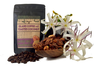 Island Coffee With Toasted Coconut Pecans and Macadamias