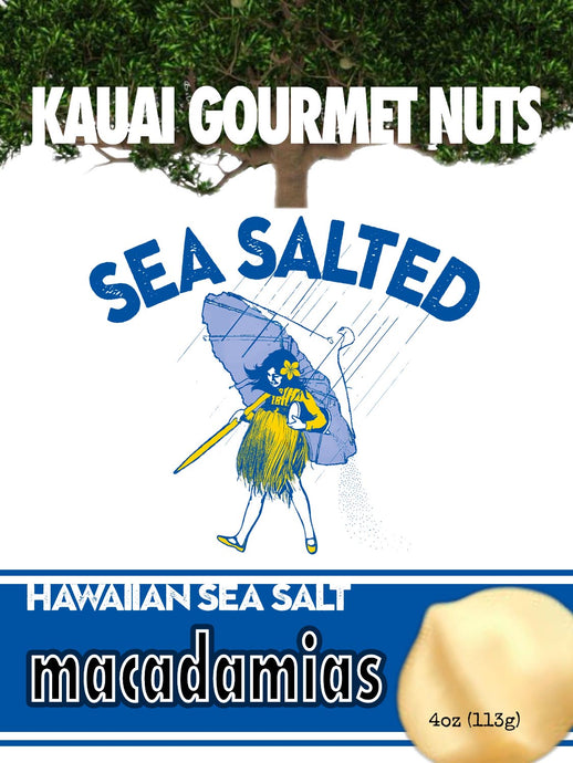 Kauai Macadamias Sea Salt Salted Hawaiian Hawaii Roasted Nuts Nuts Roasters