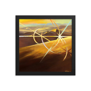 Framed print / SAHARA LIGHT