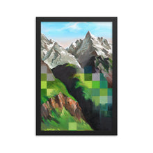 Framed print / SNOW DRAGON MOUNTAIN