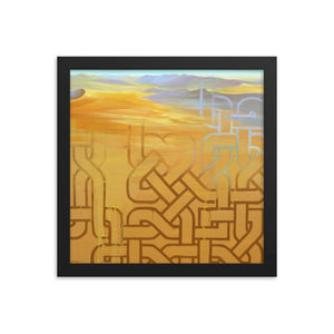 Framed print / SAHARA CONNECTIONS