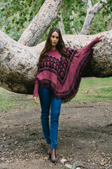 Dakota Patterned Poncho - thread to cloth